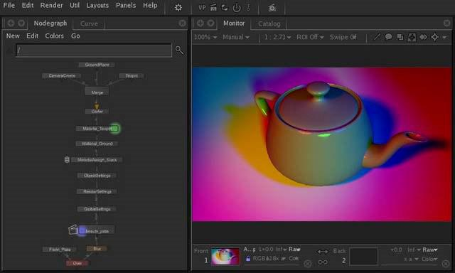 Katana 3D lighting software is integrated into Nuke